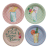 Set of 10 Small Canape Paper Plates Rice DK