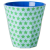 Blue  Green Star print two tone melamine cup by Rice DK