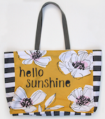 Hello Sunshine Canvas Shopping Bag