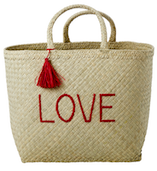 Love Raffia Shopping Basket