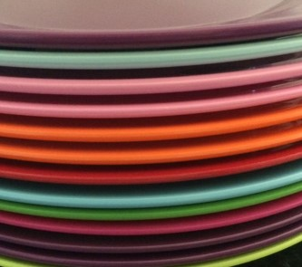 & Colourful Melamine Plates - Vibrant Home