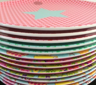 Rice DK Pattern Kids/ Side Melamine Plates & Colourful Melamine Plates - Vibrant Home