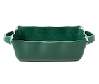 Medium Stoneware Oven Dish in Forest Green