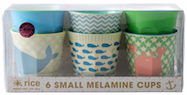 kids melamine sets of cups and plates