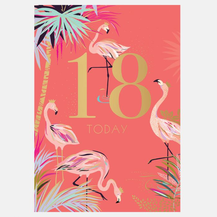 18th Birthday Card By Sara Miller London