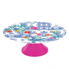 Colourful Secret Garden Melamine Cake Stand by Ginger
