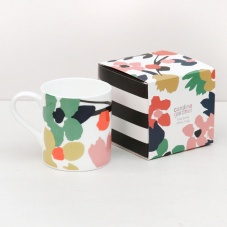 Caroline Gardner Abstract Floral Print Boxed China Mug