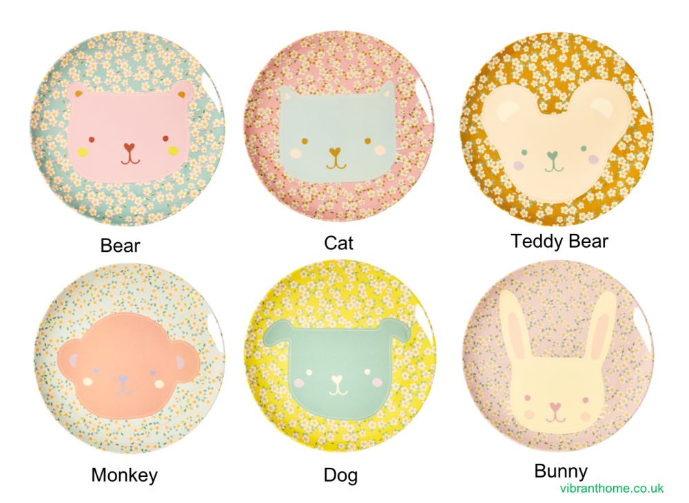 Animal Print Kids Melamine Plates By Rice DK