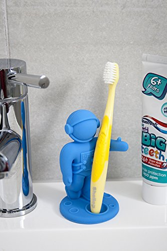 Blue Apollo Astronaut Toothbrush Holder For Kids By j-me
