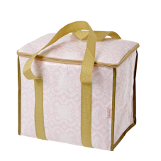 Cooler bag pink lace print gold handles Rice DK