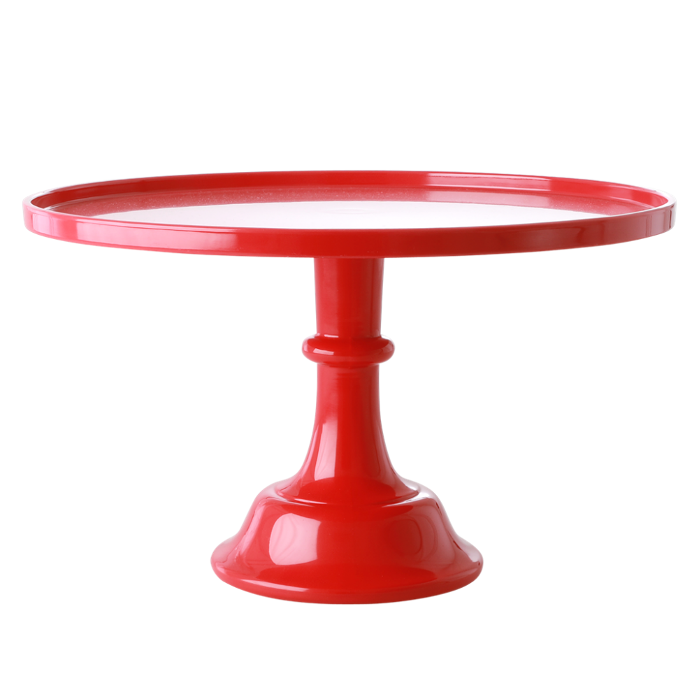 Melamine Cake Stand In Berry Red By Rice DK