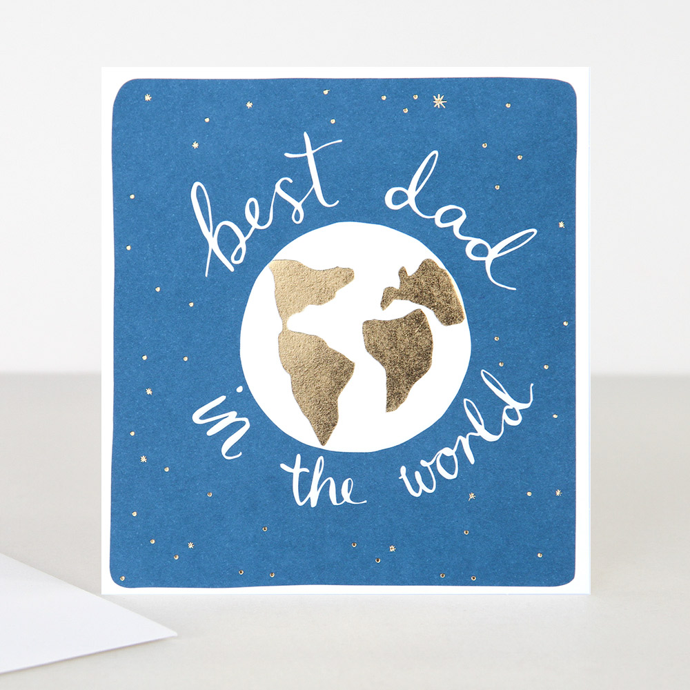 Best Dad in the World Card By Caroline Gardner