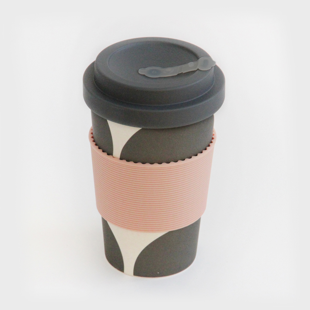 Big Spot Print Bamboo Travel Coffee Cup By Caroline Gardner