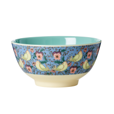 Bird and Pansy Print Melamine Bowl By Rice DK