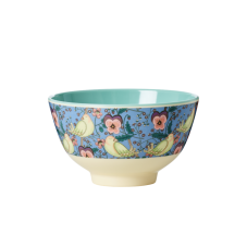 Bird and Pansy Print Small Melamine Bowl By Rice DK