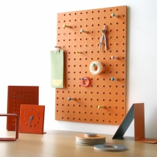 Orange Pegboard by Block Design the perfect noticeboard