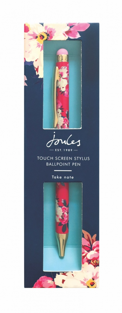 Bircham Bloom Floral Print Ballpoint Pen & Stylus By Joules