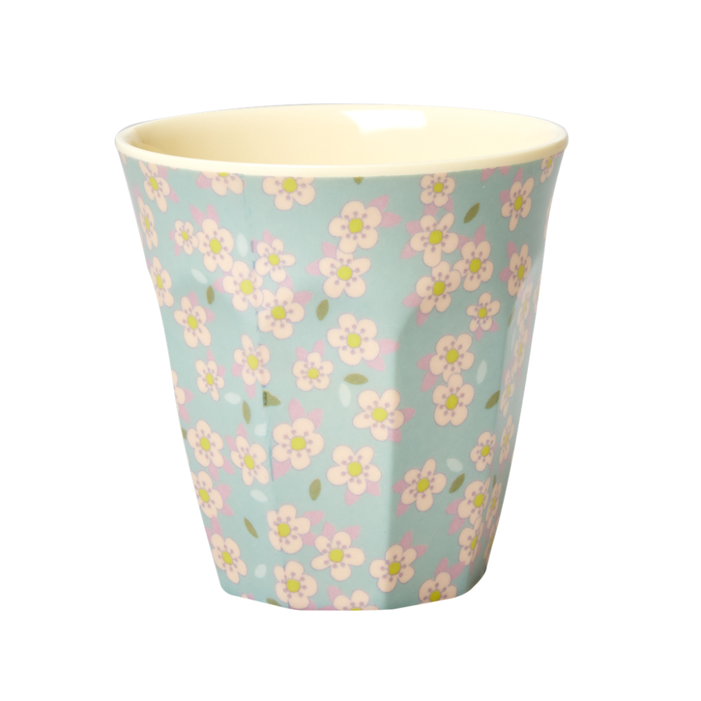 Blue Small Flower Melamine Cup Rice DK