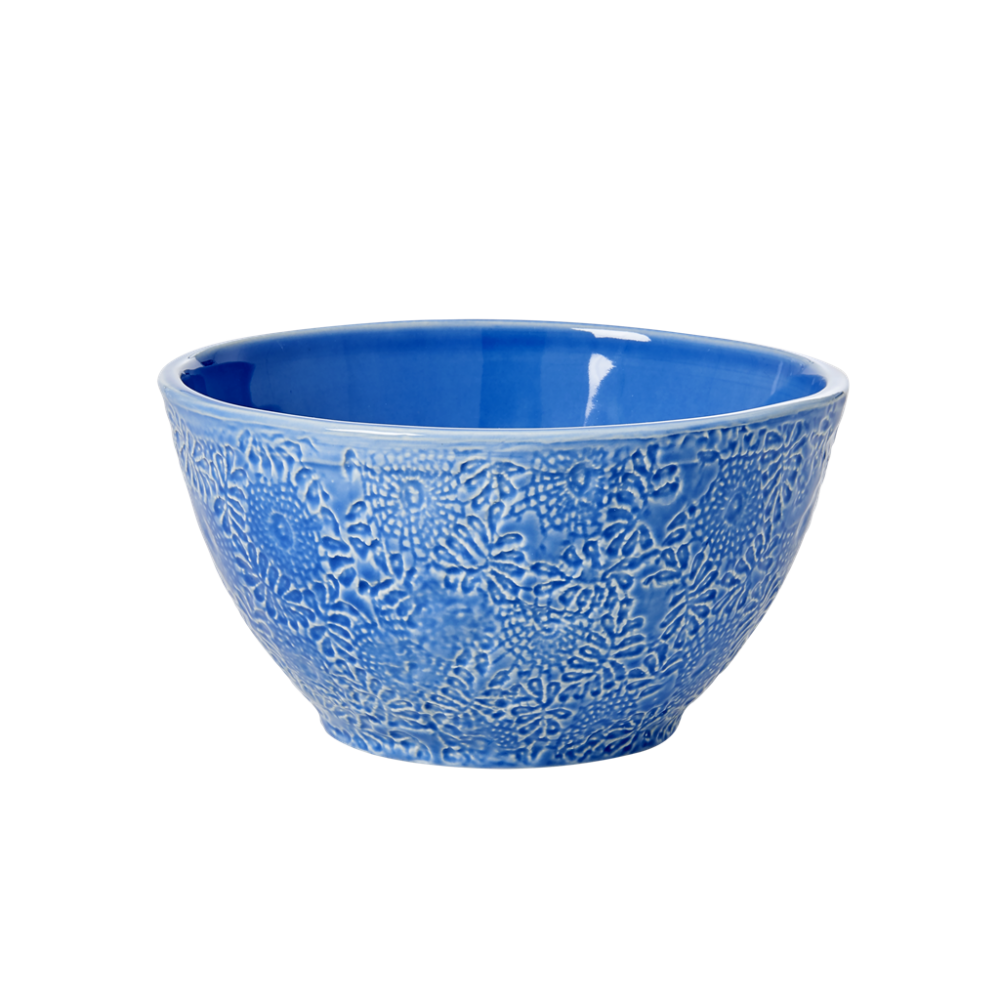 Blue Stoneware Salad Bowl by Rice DK