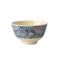 Small Blue Flower Print Small Melamine Bowl Rice DK