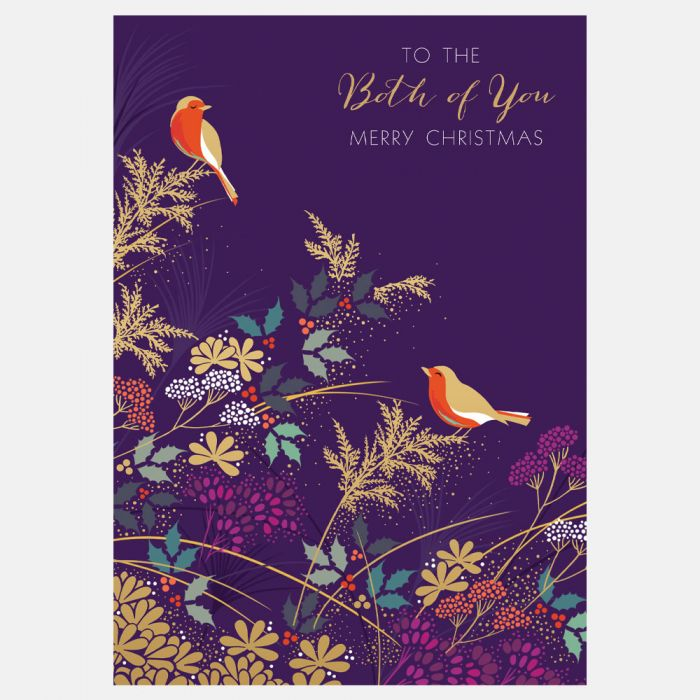To The Both of You Merry Christmas Robins Card Sara Miller London