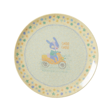 Boy's Racing Print Melamine & Bamboo Plate By Rice DK