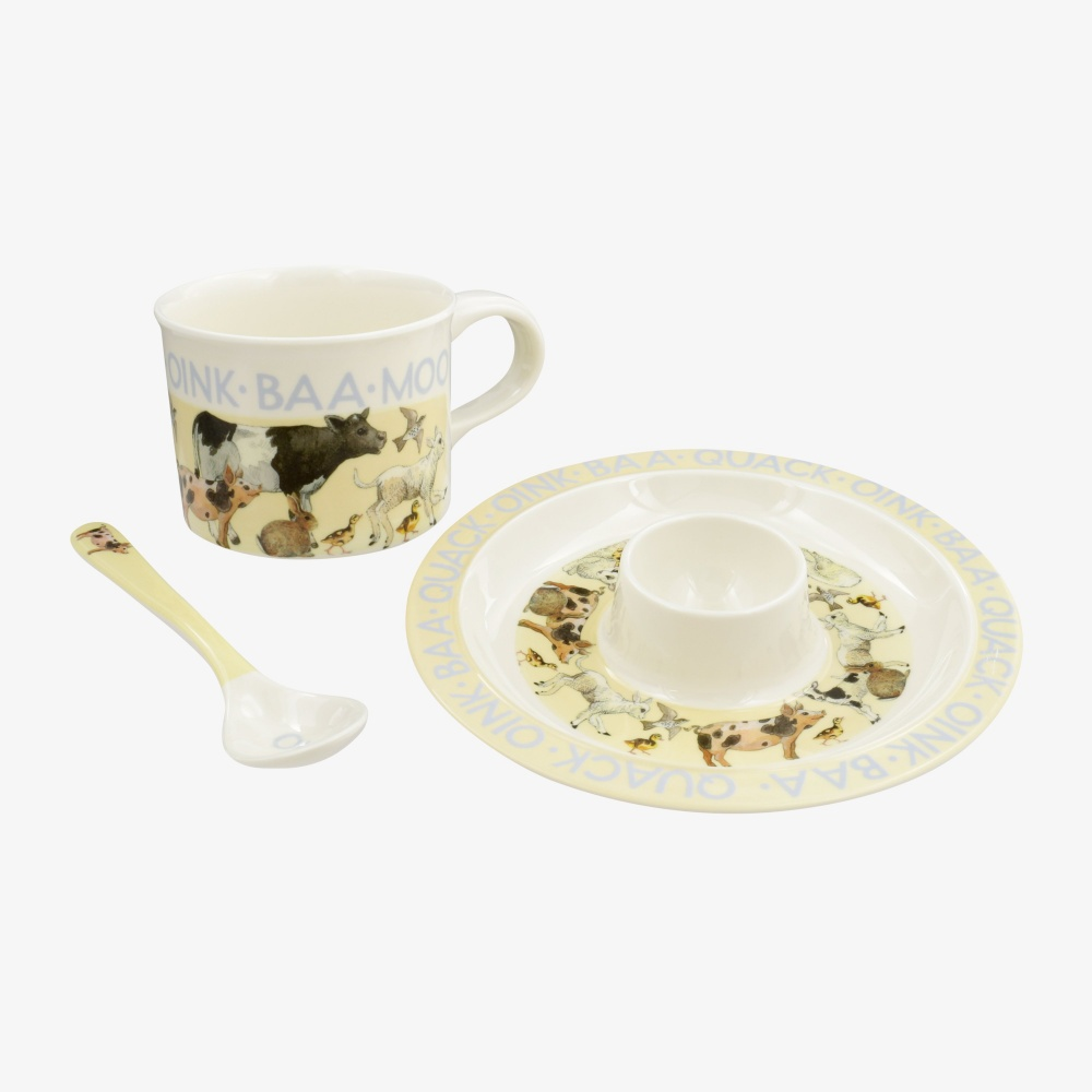 Bright New Morning Melamine Breakfast Set By Emma Bridgewater