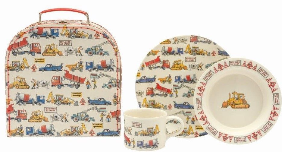 Emma Bridgewater Builders At Work Melamine Set & Case