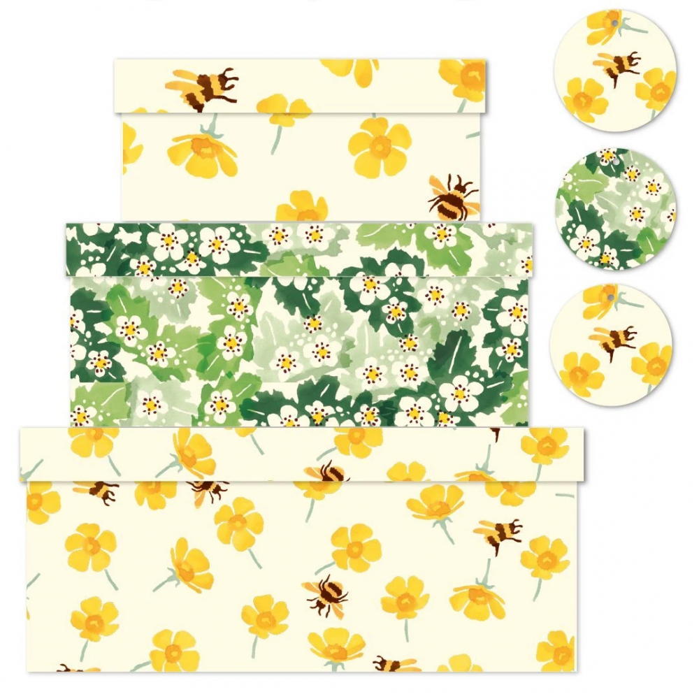 Buttercup and Bee Print set of 3 Boxes Emma Bridgewater