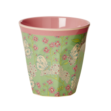 Butterfly and Flower Print Melamine Cup By Rice DK