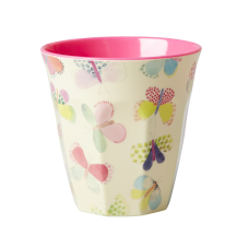Rice Dk Colourful Butterfly Print Melamine Cup