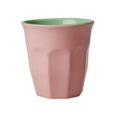 Pink & Soft Green Two Tone Ceramic Cup By Rice DK