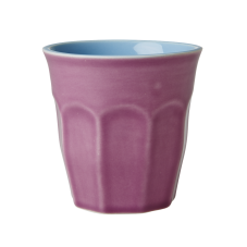 Purple & Pastel Blue Two Tone Ceramic Cup By Rice DK