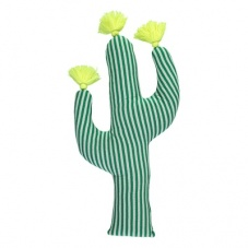 Green Striped Cactus Shaped Cushion By Meri Meri