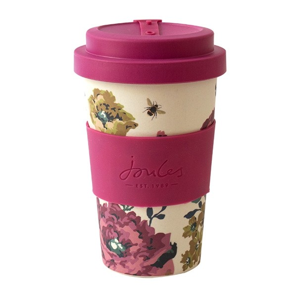 Cambridge Floral & Bee Print Bamboo Travel Cup By Joules