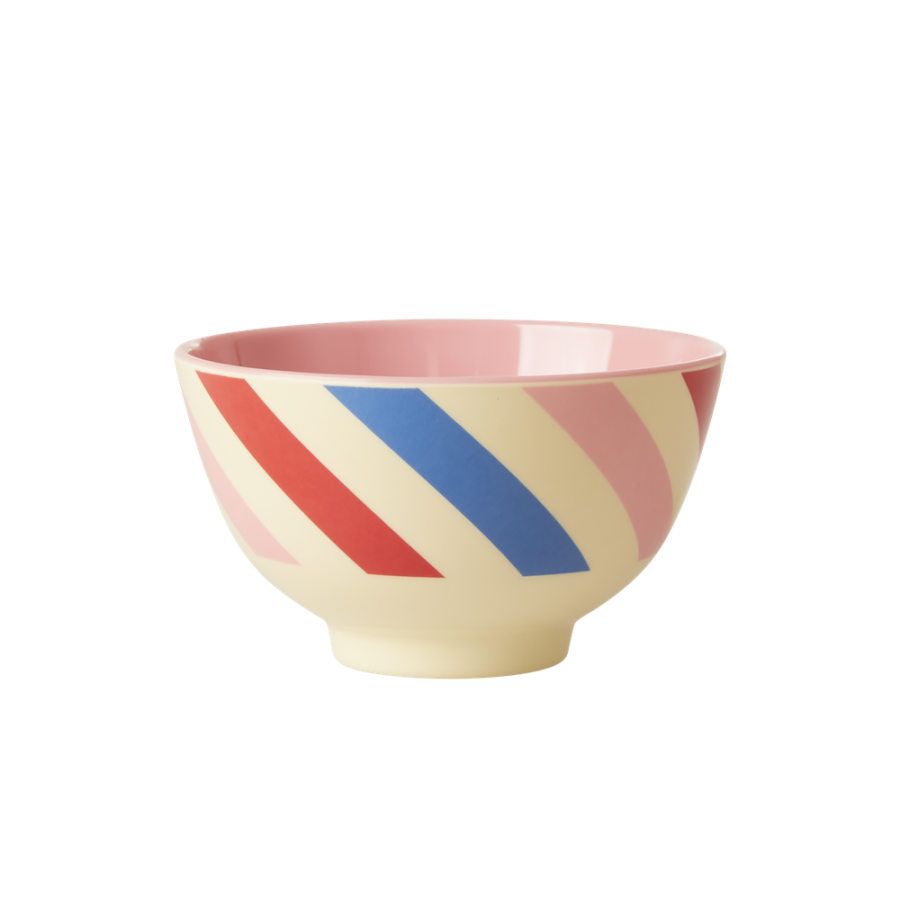 Candy Stripe Print Small Melamine Bowl Rice DK