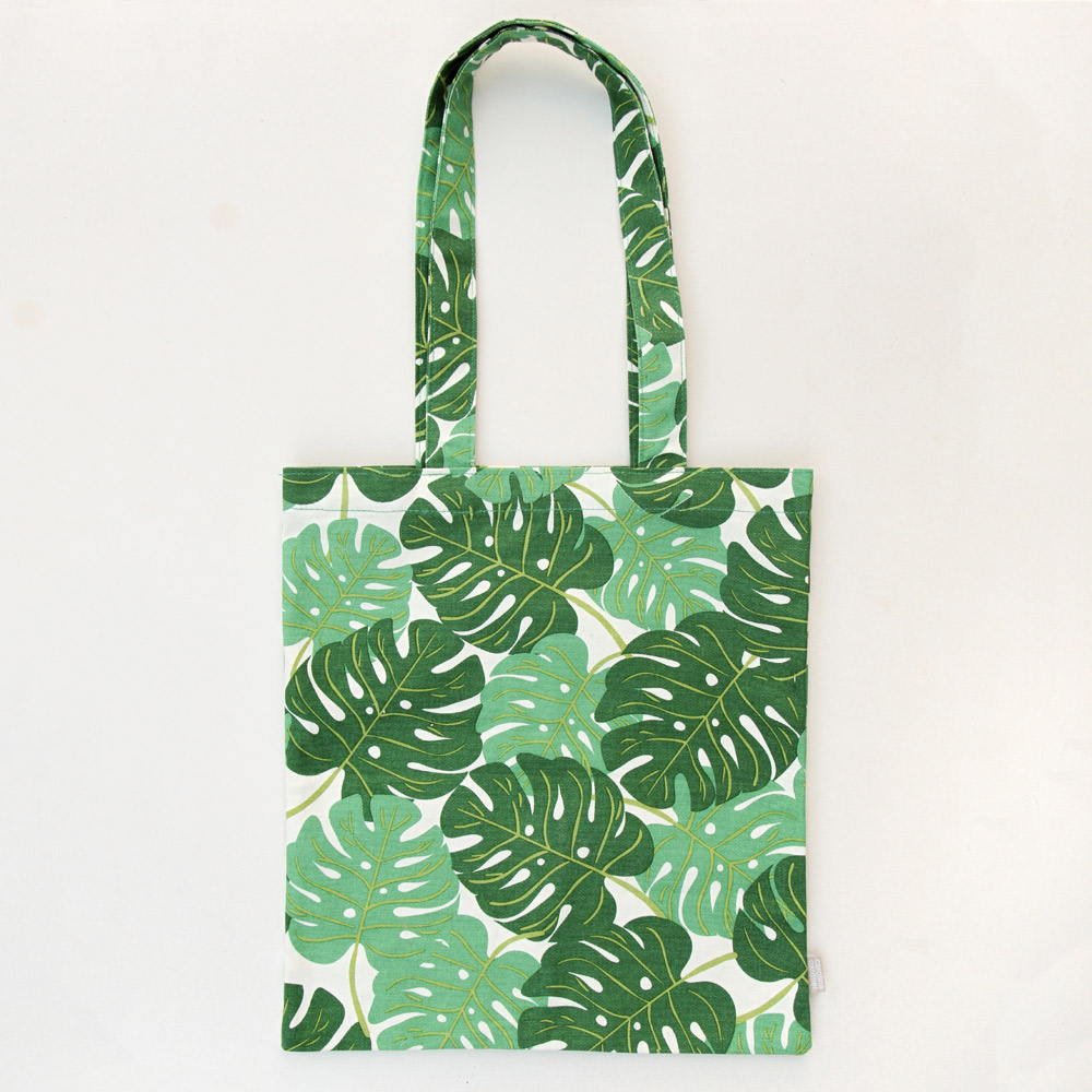 Tropical Green Leaf Canvas Tote Bag By Caroline Gardner