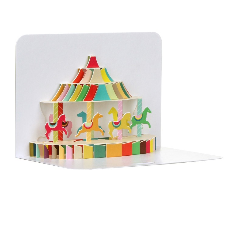 Carousel 3D Daughter Birthday Card by FORM