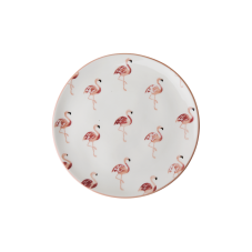 Ceramic Dessert Plate Flamingo Print By Rice DK