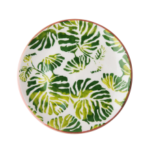 Ceramic Lunch Plate Tropic Leaf Print By Rice DK
