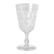 Clear Swirl Embossed Acrylic Wine Glass Rice DK
