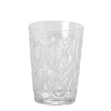 Clear Swirl Embossed Acrylic Tumbler Rice DK