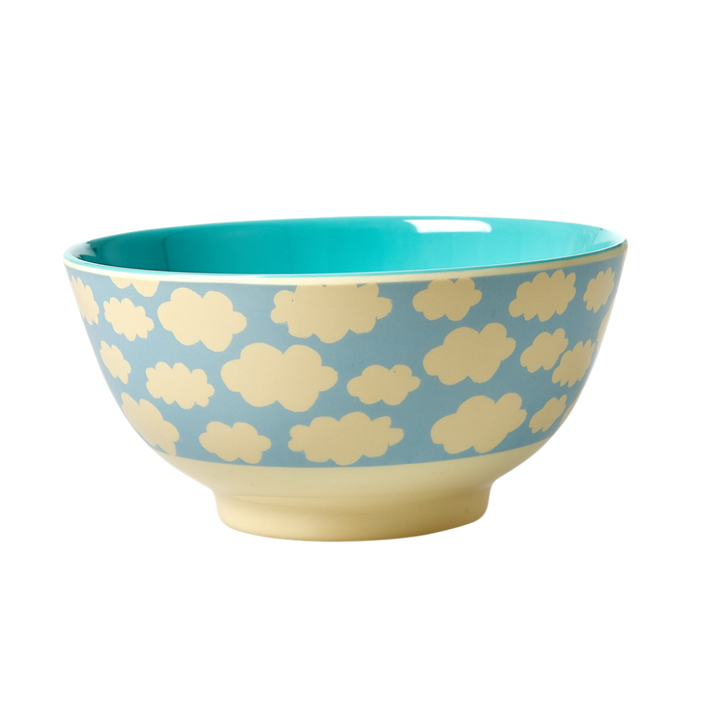 Blue Cloud Print Melamine Bowl Rice DK