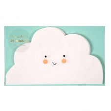 Cloud Shaped Paper Napkins By Meri Meri Pack of 20