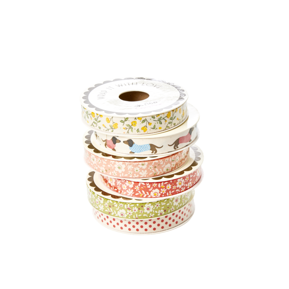 Colourful Cotton Gift Wrapping Ribbon By Rice DK