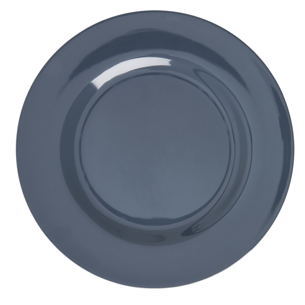 Dark Grey Melamine Dinner Plate Rice DK