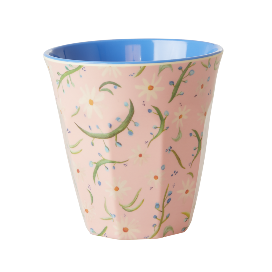 Delightful Daisy Print Melamine Cup By Rice DK
