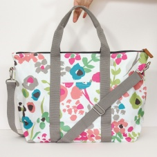 Ditsy Meadow Print Weekend Bag By Caroline Gardner