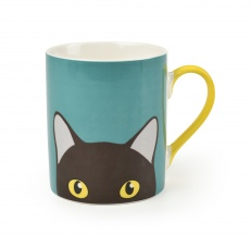''Doris'' Cat China Mug By Burgon & Ball