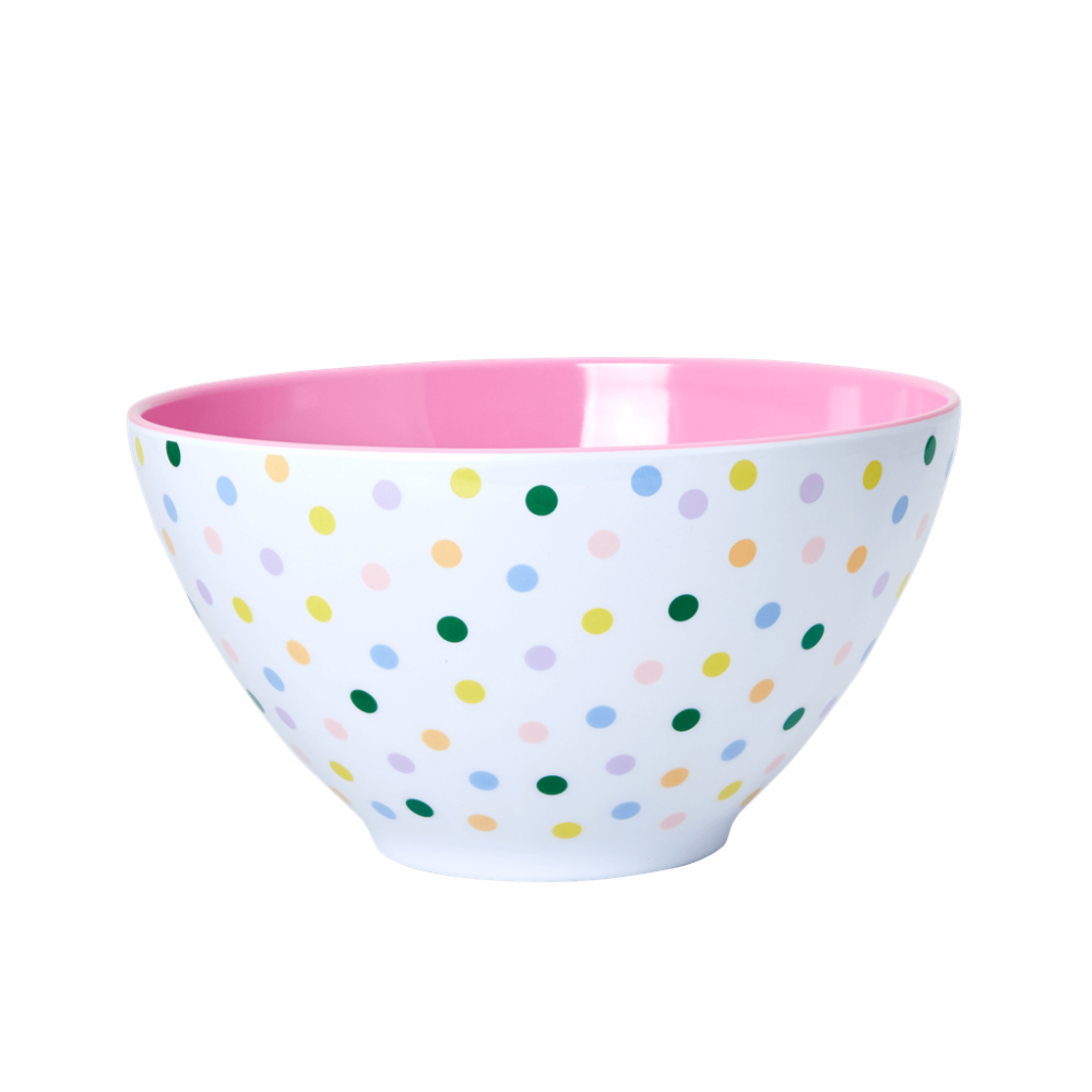 Melamine Salad Bowl Dot Print by Rice DK